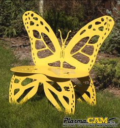 Beau Custom Plasma Cut Metal Butterfly Bench! Make Your Own Outdoor Furniture  With A PlasmaCAM Machine