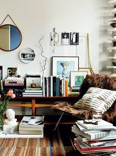 Eclectic living rooms.