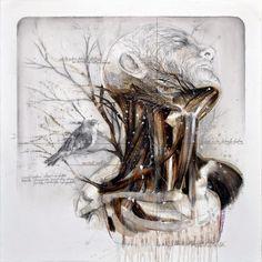 Nunzio Paci's Mutating Anatomical Studies #Art #ContemporaryArt