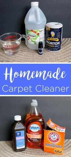 These homemade carpet cleaning solutions will leave your home cleaner and you can find what you need right in your pantry or medicine cabinet! Now that is some easy DIY cleaning solutions! Homemade Carpet Cleaning Solution, Carpet Cleaning Recipes, Household Cleaning Tips, Rug Cleaning, Diy Cleaning Products, Cleaning Solutions, Cleaning Hacks, Cleaning Services, Cleaners Homemade