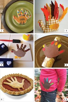 Turkey handprint craft ideas for fall or Thanksgiving- I think I might need to make handprint napkin rings this year!