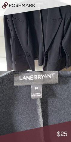 be7e3ee86 Lane Bryant Ponte Blazer Black ponte knit blazer. Good condition. Lane  Bryant Jackets