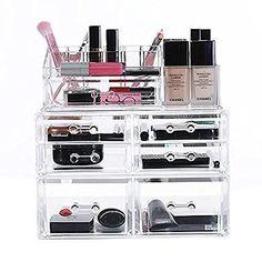 Ikee Design® Premium Acrylic Makeup Storage Organizer, 3-Piece Set