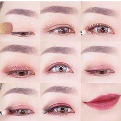 Beste Make-up Tutorial Grunge 39 Ideen - Makeup Tutorial Smokey Makeup Goals, Makeup Inspo, Makeup Inspiration, Make Up Looks, Asian Makeup Tutorials, Korean Eye Makeup, Japanese Makeup, Asian Eyes, Organic Makeup
