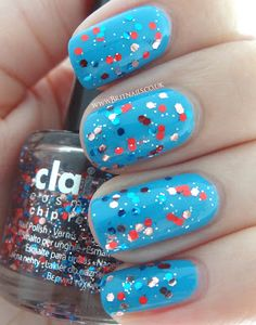Jubilee nail art - Claire's Glitter and Barry M Cyan Blue Cyan Blue, Barry M, Bling Nails, Wedding Nails, Pretty Nails, You Nailed It, Swatch, Hot Pink, Nail Polish