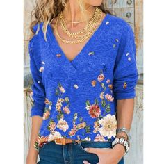 Tie Dye Long Sleeve, Long Sleeve Tops, Blouses For Women, T Shirts For Women, Vintage Tee Shirts, Casual T Shirts, Casual Tops, Casual Outfits, Types Of Sleeves