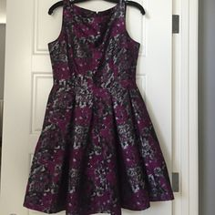 Very cute Modcloth dress, size 8 Very cute, worn once. Purple dress with black and gray design. No rips or stains ModCloth Dresses Mini
