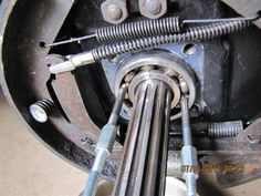 "Bearing Puller by amotomura -- Homemade bearing puller intended to facilitate work with small nut RBGs. A 1/4"" Allen head bolt was ground to  fit the bearing. http://www.homemadetools.net/homemade-bearing-puller-4"