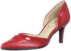 LifeStride Womens Saldana Pump fire red 95 W US ** To view further for this item, visit the image link. (This is an affiliate link) Sexy High Heels, High Heel Pumps, Women's Pumps, Pretty Shoes, Beautiful Shoes, Interview Shoes, Comfortable Dress Shoes For Women, Red Bottom Heels, Casual Boots
