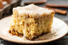 Prepare to fall in love with this Cinnamon Roll Cake! Light and fluffy, with just the right amount and cinnamon sugar throughout! Cake Cookies, Cupcake Cakes, Cupcakes, Pear Cake, Best Dishes, Cake Ingredients, Cata, Cinnamon Rolls, Cinnamon Loaf