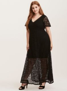 """This is the perfect LBD for your spring/summer event invites (dressy or not-so-dressy events included). The skin-baring v-neck is trimmed with crochet. A stretchy mini slip underlay lends coverage.<div><ul><li style=""""list-style-position: inside !important; list-style-type: disc !important"""">Lace fabric</li><li style=""""list-style-position: inside !important; list-style-type: disc !important"""">V-neck</li><li style&..."""