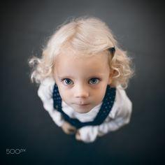 little girl - little girl looking up