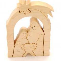 Weihnachten Dekor Holz Christmas Wood Crafts, Christmas Nativity Scene, Handmade Christmas Gifts, Kids Christmas, Xmas, Intarsia Woodworking, Woodworking Projects, Intarsia Patterns, Wooden Projects