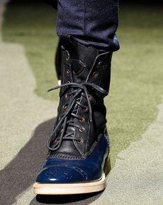 What women want? Men + shoes+ style!  Paul Smith f12 #boots #men    TrendHim UK via Jill DesChenes onto In Shoes We Trust