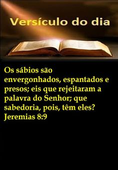 REFLEXÃO: VERSÍCULO DO DIA 21/12/2015 - JEREMIAS 8:9