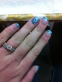 Winter Snowflake Nails