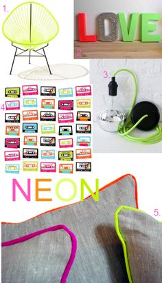 ESW featured by @Cristin {Simplified Bee} … neon_home_decor_trend ❤