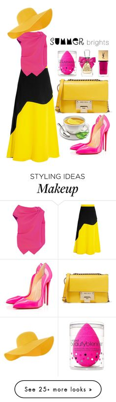 """""""Break the RULE"""" by diannitafebriani on Polyvore featuring Roksanda, Roland Mouret, Accessorize, beautyblender, Christian Louboutin, Jimmy Choo, Juicy Couture, Yves Saint Laurent and summerbrights"""