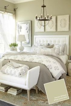 Furniture - Bedrooms : Top 100 Neutral Bedroom Ideas for couples master bedroom - Decor Object Neutral Bedrooms, Gray Bedroom, Home Bedroom, Bedroom Furniture, Trendy Bedroom, Bedroom Wall, Bedroom Curtains, Furniture Ideas, White Furniture