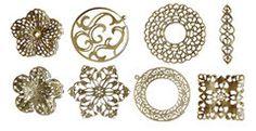 FabScraps - Metal Embellishments Box - Filigree - Old Brass 1