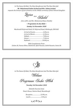 eight Marriage Card Pattern In Urdu South Africa was the arena of a awakening miracle, Nigeria's President Muhammadu Buhari was said to accept died and been replaced by an imposter, Jesus Muslim Wedding Ceremony, Muslim Wedding Cards, Muslim Wedding Invitations, Wedding Card Wordings, Wedding Invitation Card Template, Invitation Card Design, Wedding Invitation Templates, Wedding Card Format, Shadi Card