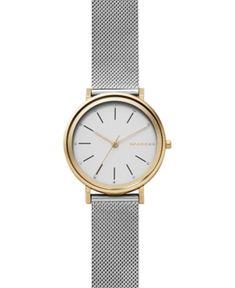 Skagen Women's Hald Two-Tone Stainless Steel Mesh Bracelet Watch 34mm SKW2508 - Silver