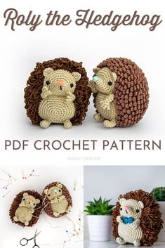 Super cute amigurumi crochet pattern for this adorable little hedgehog! I love the two spine options for this pattern! Now I need an amigurumi hedgehog! Crochet Amigurumi Free Patterns, Crochet Animal Patterns, Crochet Doll Pattern, Crochet Animals, Cute Crochet, Crochet For Kids, Crochet Decoration, Crochet Fall Decor, Crochet Hedgehog