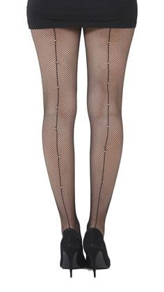 Fishnet seamed tights with diamante Cool Tights, Fishnet, Burlesque, Stockings, Cool Stuff, Nice, Fashion, Socks, Moda
