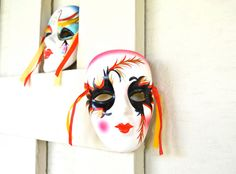 Mystique Masquerade Pair  Hand Painted by StorybookArtifact, $20.00