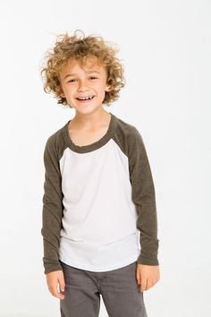 Fashion Boy Gray Jacket Red V-Neck Infant Raglan T-Shirt Baseball Jersey