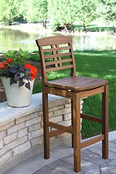 Find Outdoor Interiors 10030 Eucalyptus Hi Back Bar Chair online. Shop the latest collection of Outdoor Interiors 10030 Eucalyptus Hi Back Bar Chair from the popular stores - all in one Patio Rocking Chairs, Old Chairs, Cafe Chairs, Metal Chairs, Patio Chairs, Adirondack Chairs, Lounge Chairs, Dining Chairs, Rattan Chairs