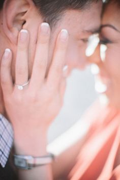 Intimate engagement pose | Seattle Engagement | Clane Gessel Photography #engagement #photography #pose #seattle