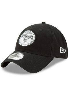 New Era Pittsburgh Penguins Mens Black Core Standard 9TWENTY Adjustable Hat