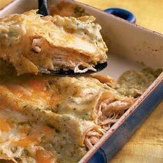 Easy Chicken Enchiladas  | Enchiladas de Pollo (Chicken Enchiladas) | MyRecipes.com