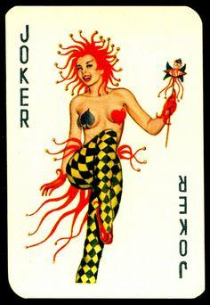 Dandy Pin up Bubble Gum advertisement cards 1956 Joker – Playing Cards Top 1000 Unique Playing Cards, Playing Cards Art, Vintage Playing Cards, Joker Playing Card, Joker Card, Jokers Wild, Dandy, Pokerface, Retro Lingerie