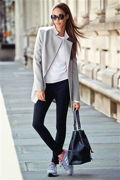 Grey Longline Jacket from Next. Love this look, casual but streamlined