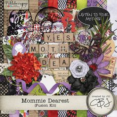 Mommie Dearest - Fusion Kit plus FWP Simple Solids Paper Pack by Created by Jill