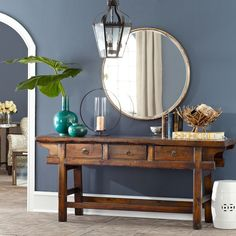 Gilt Minimalist Mirror. bedroom or entryway