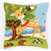 "FRIENDS FROM THE FOREST Cushion Front Chunky Cross Stitch Kit 16"" x 16"""
