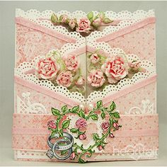 True Love Foldout Card project w/ Classic Wedding collection from #HeartfeltCreations
