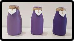 Milk Bottle Handmade Acrylic paint Jute Twine DIY