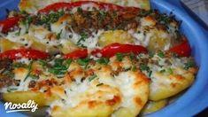 Krumplifelfújt darált hússal és paradicsommal | Nosalty Falafel, Baked Potato, Mashed Potatoes, Baking, Ethnic Recipes, Food, Whipped Potatoes, Smash Potatoes, Bakken