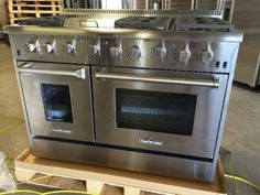 """NEW THOR KITCHEN 48"""" PRO STYLE DOUBLE OVEN GAS RANGE STAINLESS STEEL HRG4804U"""