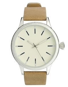 ASOS Watch With Suede Look Strap. A bit more sophisticated, very versatile. Would look great against a navy shirt or jacket