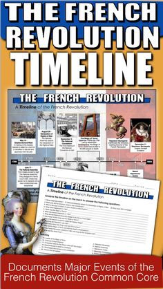 The French Revolution Timeline takes your students to France from 1789 to 1804. Students analyze the timeline and complete a twenty question common core aligned worksheet. This assesses students on the history of the French Revolution as well as timeline analysis. It can be used in class or as homework as it's a completely stand alone assignment. Key is included.