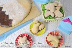 Süße, kleine Joghurt-Häschen – einfache, schnelle, kreative Inspiration zu Ostern