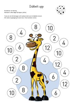 Dubbelt upp.pdf – OneDrive Addition Activities, Math Addition, Activities For Kids, Math Doubles, Doubles Facts, Teaching Aids, Learning Numbers, 1st Grade Math, Math Games