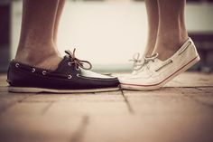 boat shoes. him and her <3