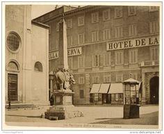 Italia, Roma. Facciata dalla Minerva  Circa 1880