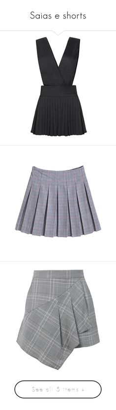 """Saias e shorts"" by yaseumin ❤ liked on Polyvore featuring skirts, mini skirts, dresses, black, vestido, yoins, short skirts, pleated mini skirt, pleated skirt and mini skirt"